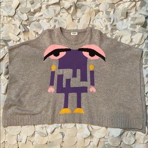 Adorable little monster sweater  poncho for girls.